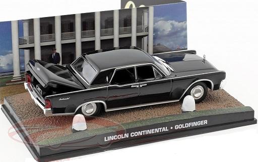 "Lincoln Continental James Bond ""Goldfinger"" Zwart 1-43 Altaya James Bond 007 Collection"