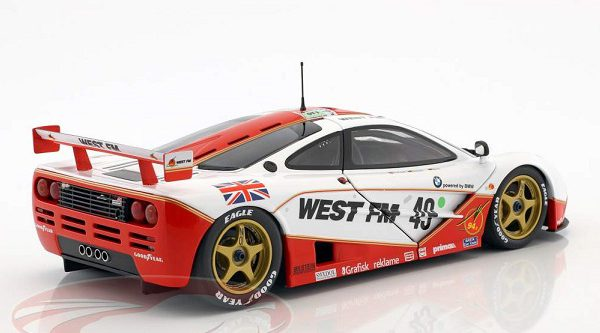 McLaren F1 GTR #49 West Competition 24Hrs LeMans 1995 Nielsen, Mass, Bscher 1:18 Minichamps Limited 304 Pieces