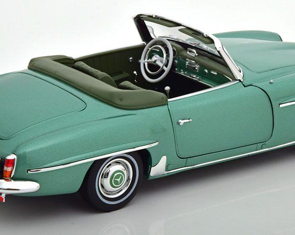 Mercedes-Benz 190 SL 1957 Lichtgroen Metallic 1-18 Norev