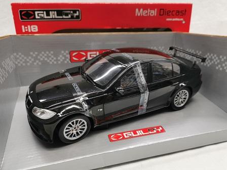 BMW 320Si WTCC Plain Body Test Car Zwart 1-18 Guiloy