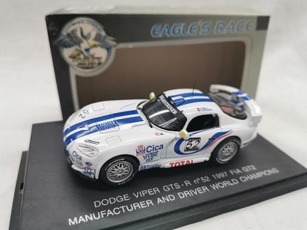 Dodge Viper GTS-R Nr#52 1997 Fia GT2 J.Bell / T.Archer Wit / Blauw 1-43 Eagle's Race