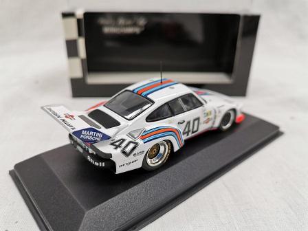 """Porsche 935 Nr# 40 """"Martini"""" 24Hrs Le Mans 1976 Stommelen / Schurti 1-43 Minichamps Limited 4608 Pieces"""