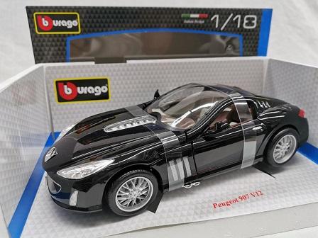 Peugeot 907 V12 Zwart 1-18 Burago