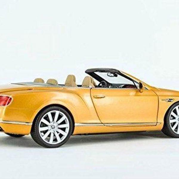 Bentley Continental GT Convertible 2016 Sunburst Gold RHD 1:18 Paragon Models
