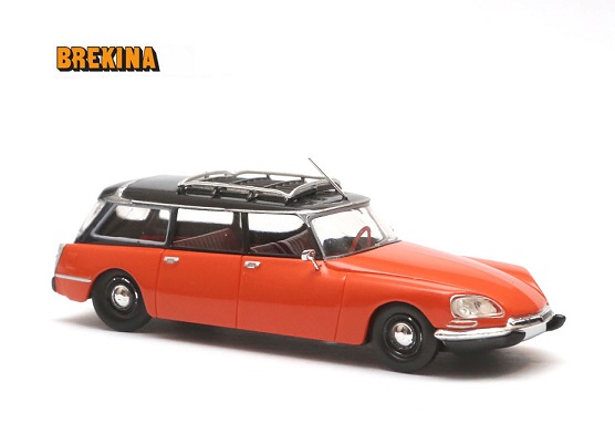 Citroen DS Break, Oranje/Zwart 1-87 Brekina