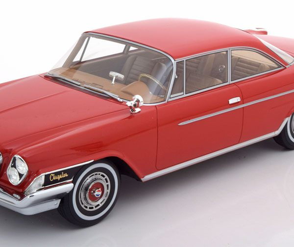 Chrysler 300H 2-Door Hardtop 1962 Rood 1-18 BOS Models Limited 504 Pieces ( Resin )