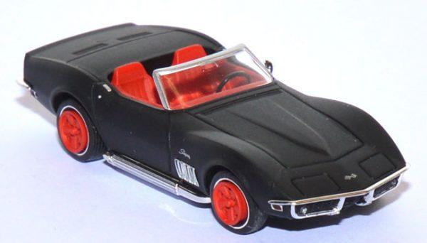 Chevrolet Corvette C3 1969 Cabriolet , Mat Zwart 1-87 Brekina