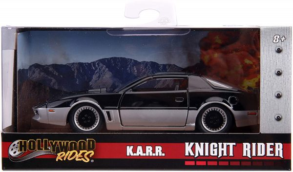 Pontiac K.A.R.R. Knight Rider Zwart / Zilver 1:32 Die-Cast Hollywood Rides- Jada Toys