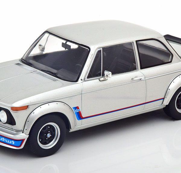 BMW 2002 Turbo 1973 Zilver 1-18 MCG Models