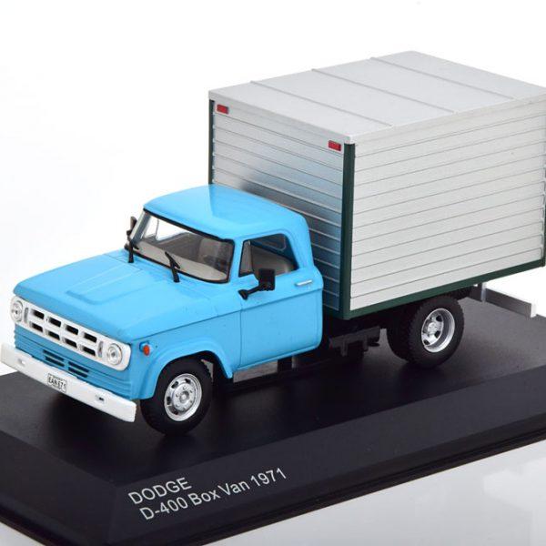 Dodge D-400 Box Vanb 1971 Blauw /Grijs 1-43 Whitebox Limited 1000 Pieces