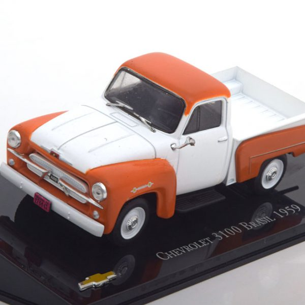 Chevrolet 3100 Brasil 1959 Oranje / Wit 1-43 Altaya