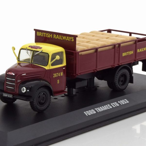 "Ford Thames ET6 ""British Railways"" Bordeaux Rood / Geel 1-43 Ixo Models"
