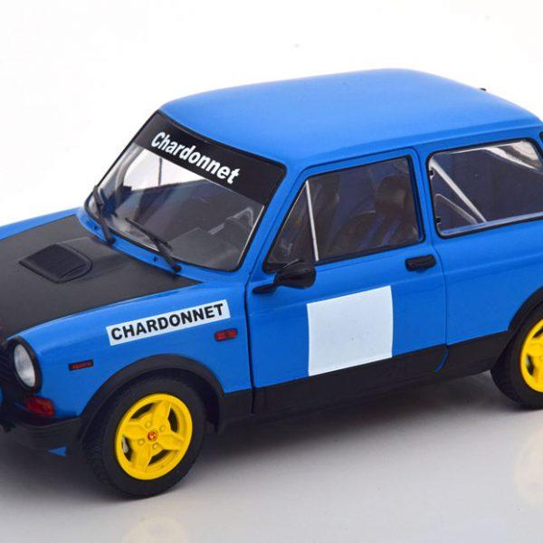 Autobianchi A112 Abarth Chardonnet 1980 Blauw / Zwart 1-18 Solido