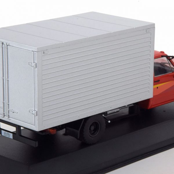 Chevrolet D-40 Box Truck 1985 Rood/Zilver 1-43 Whitebox Limited 1000 pcs.