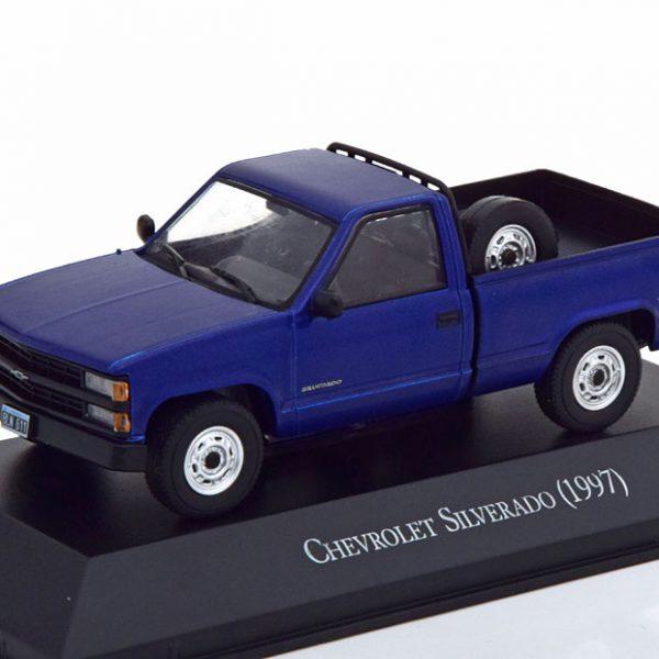 Chevrolet Silverado Pick Up 1997 Blauw 1-43 Altaya