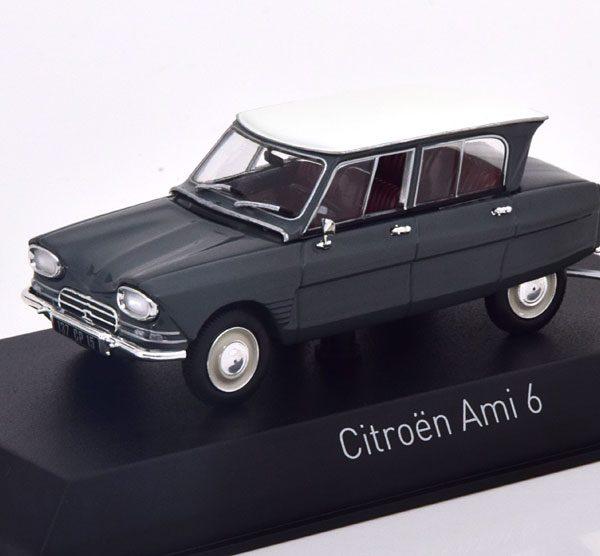 Citroen Ami 6 1967 Grijs / Wit 1-43 Norev