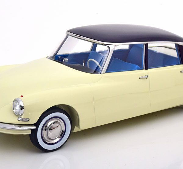 Citroen DS19 1959 Beige / Donkerrood 1-12 Norev