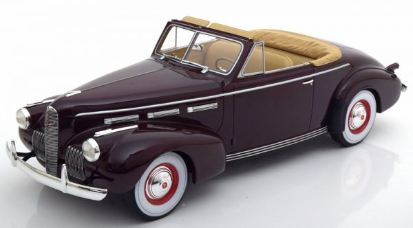 La Salle Series 50 Convertible Coupe Donkerrood 1-18 BOS Models Limited 504 Pieces