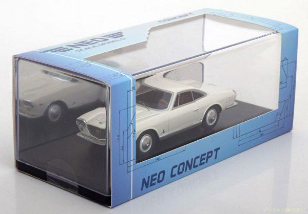 Lancia Flaminia 3C 2.8 Coupe Pininfarina Wit 1-43 Neo Scale Models