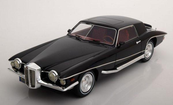 Stutz Blackhawk Coupe 1971 Zwart 1-18 PremiumX ( Resin )