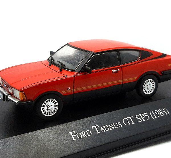 Ford Taunus GT SP5 1983 Rood / Zwart 1-43 Altaya
