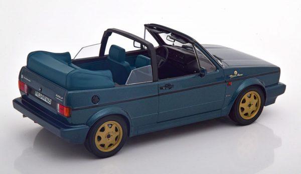 """Volkswagen Golf 1 Cabriolet """"Etinenne Aigner"""" 1990 Groen Metallic 1-18 Norev"""