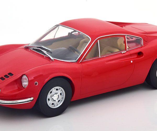 Ferrari 246 GT Dino 1969 Rood 1-18 MCG Models