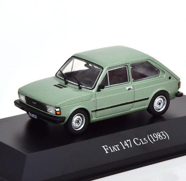Fiat 147 CL5 1983 Groen Metallic 1-43 Altaya
