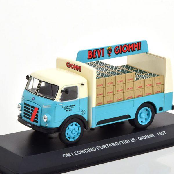 "OM Leoncino Portabottiglie 1957 ""Giommi"" Blauw / Creme 1-43 Altaya"