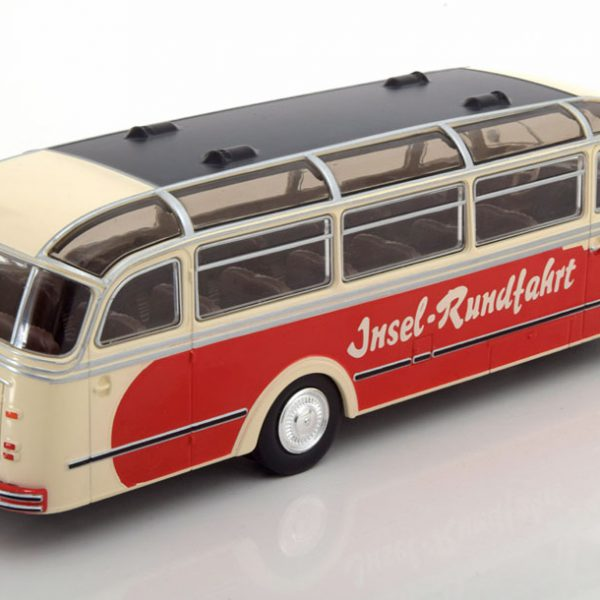 "Borgward BO 4000 ""Insel Rundfahrt"" 1952 Rood / Creme 1-43 Ixo Models"