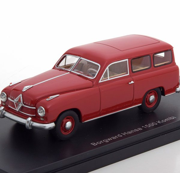 Borgward Hansa 1500 Kombi Rood 1-43 Neo Scale Models