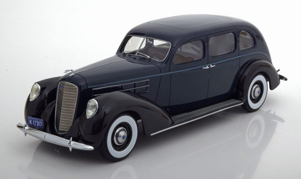 Lincoln V12 Model K Limousine 1937 Donkerblauw 1-18 BOS Models Limited 504 Pieces ( Resin )