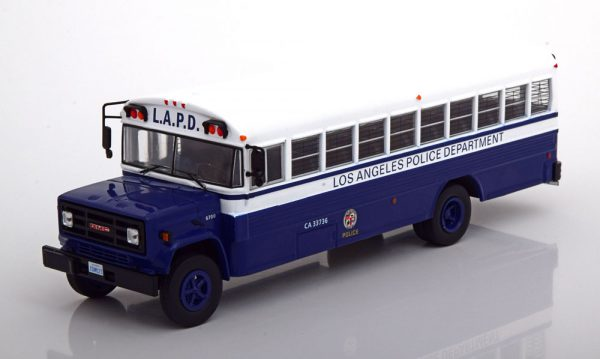 "GMC 6000 ""Los Angeles Police Department"" 1988 Wit / Blauw 1-43 Ixo Models"