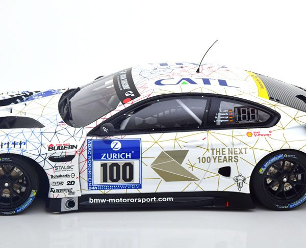 BMW M6 GT3 No.100, 24h Nürburgring 2016 Edwards/Klingmann/Luhr/Tomczyk 1-18 Minichamps Limited 200 Pieces