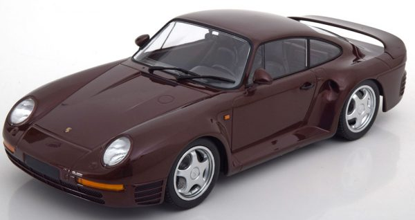 Porsche 959 1987 Donkerrood Metallic 1-18 Minichamps Limited 600 Pieces