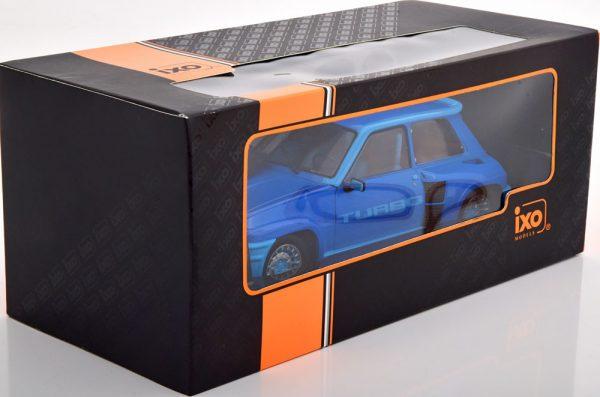 Renault 5 Turbo 1 1981 Blauw Metallic 1-18 Ixo Models
