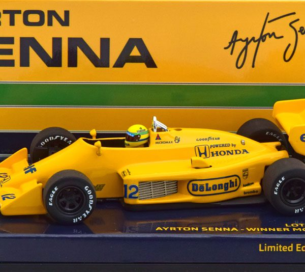 Lotus Honda 99T Winner GP Monaco1987 Aryton Senna 1-43 Minichamps Limited 987 Pieces