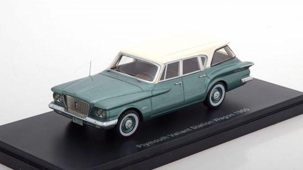 Plymouth Valiant Station Wagon 1960 Groen Metallic / Wit 1-43 Neo Scale Models ( Resin )