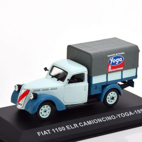 "Fiat 1100 ELR Camioncino 1951 ""Yoga"" Blauw / Grijs 1-43 Altaya"