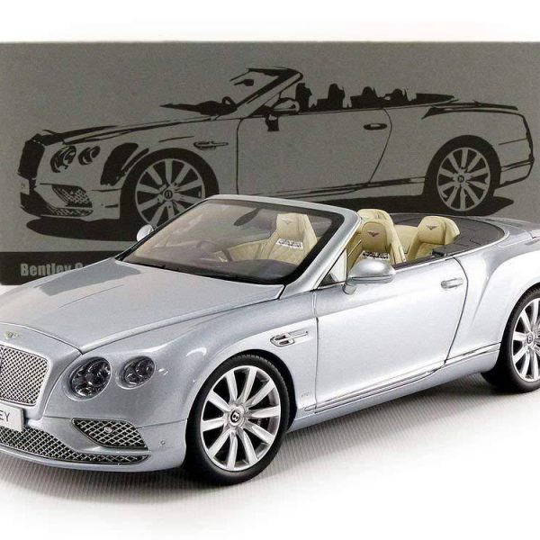 Bentley Continental GT Convertible 2016 Silver Frost RHD 1:18 Paragon Models