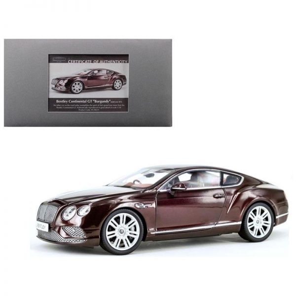 Bentley Continental GT Coupe 2016 Burgundy Rood RHD 1-18 Paragon Models