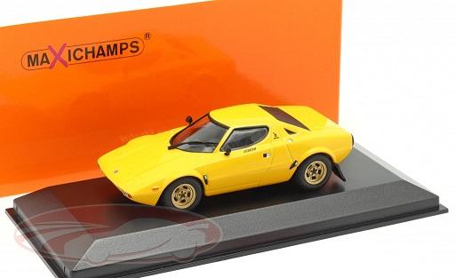 Lancia Stratos 1974 Geel 1:43 Maxichamps