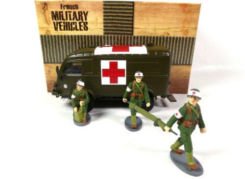 Renault 1000 KG R2087 Militair Ambulance inkl. 3 Soldaten 1-43 Direkt Ixo