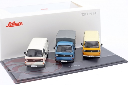 3-Car Set: 40 Years Volkswagen T3 Bus 1:43 Schuco Limited 500 Pieces