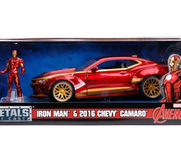 Marvel Avengers Chevy Camaro 2016 & Iron Man 1-24 Rood Metallic Jada Toys