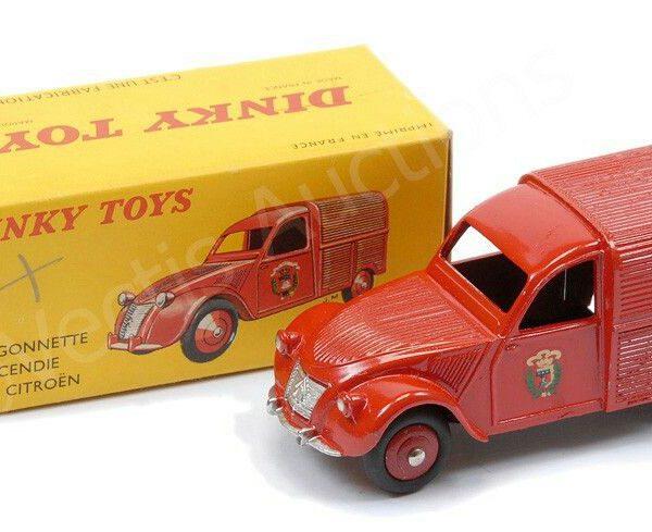 Citroen 2 CV Incendie Fourgonette Rood 1-43 Dinky Toys ( Atlas )