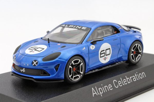 Renault Alpine A110 #60 Celebration Goodwood 2015 Blauw 1-43 Norev
