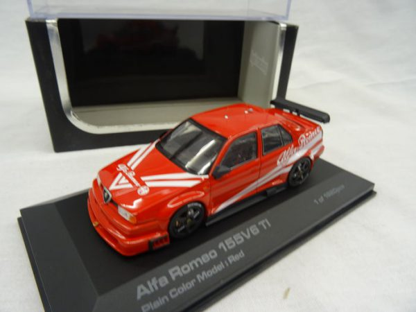 Alfa Romeo 155 V6 Ti Plain Body Version Rood 1-43 HPI-Racing