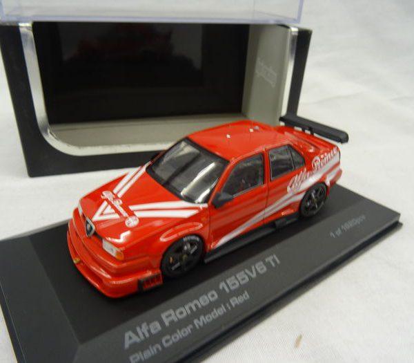 Alfa Romeo 155 V6 Ti Plain Body Version Rood 1-43 HPI-Racing