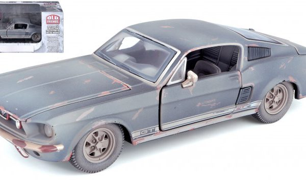 Ford Mustang 'Old Friends' 1967 (Dirty Version) Zwart / Roest 1-24 Maisto